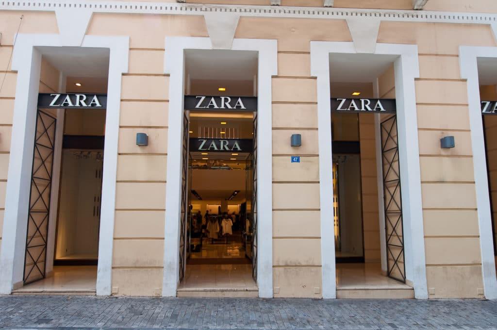 Zara Store On Emrou Street. Athens, Greece.