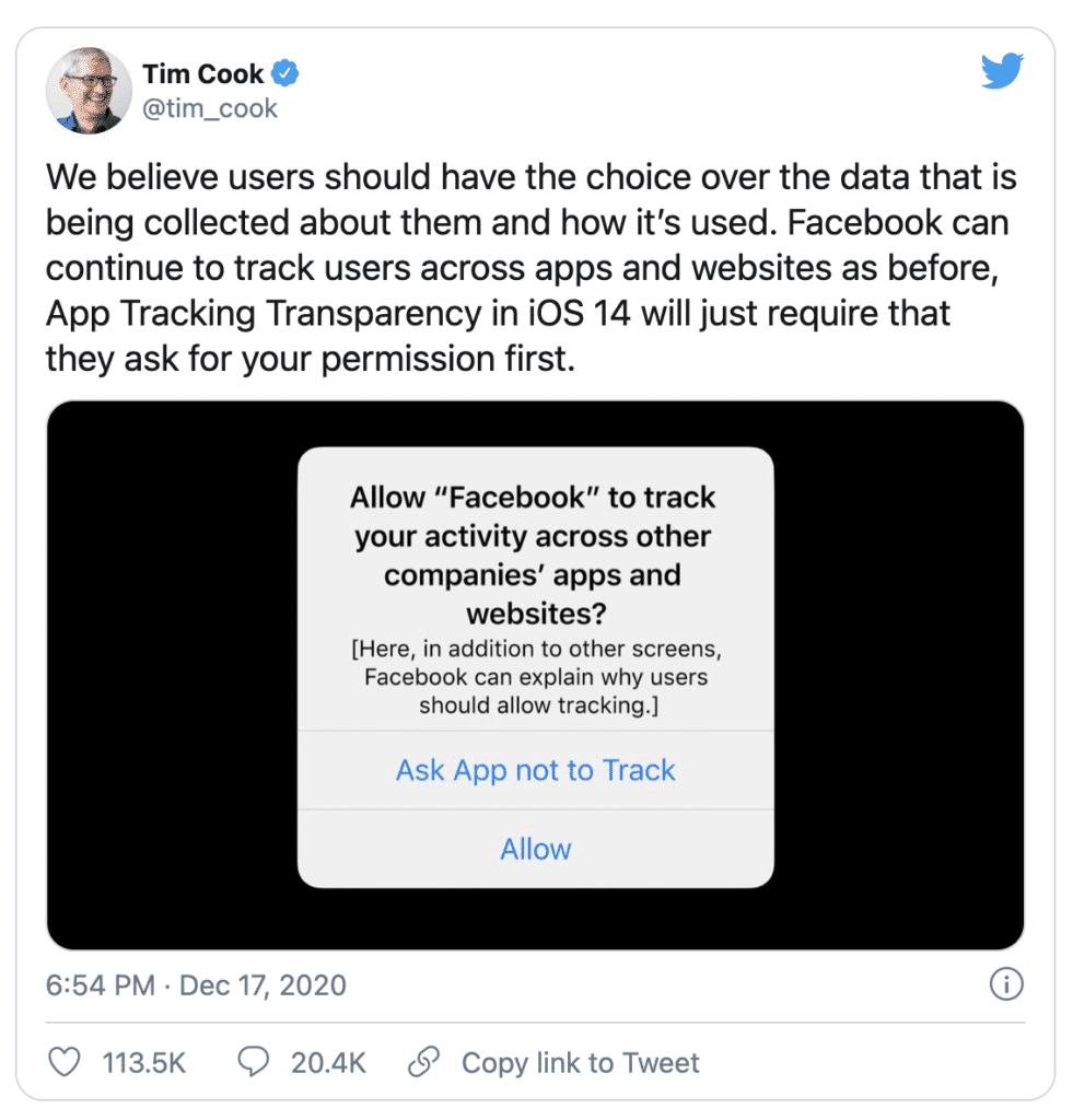 Tim Cook Twitter Feed