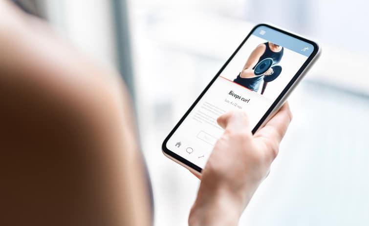 Gym Training App In Phone.