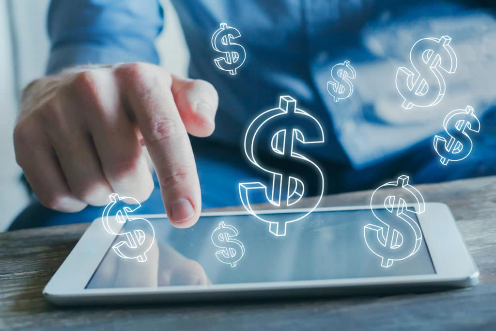 E Commerce, Financial Concept, Online Business Profit