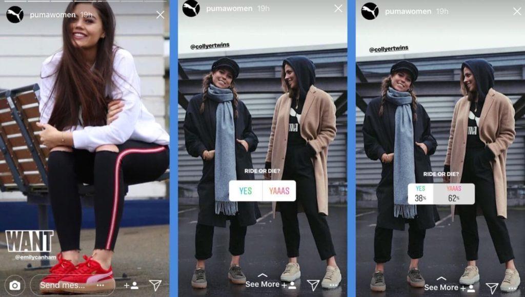 Puma Women Instagram Poll