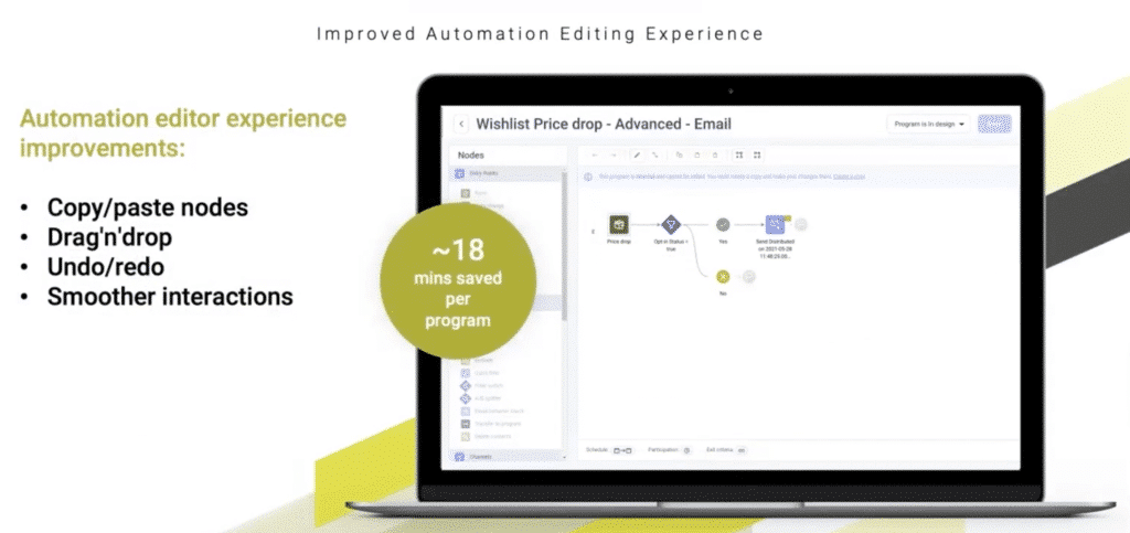 improved automation editing Emarsys Summer Release 2021