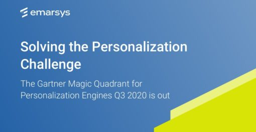 A leader in the Gartner 2020 Magic Quadrant for Personalization Engines